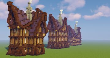3 Elven houses Minecraft Map & Project