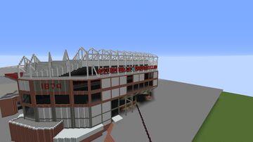 Aston Villa Football Stadium - (Villa Park) BIGGER AND IMPROVED VERSION Minecraft Map & Project