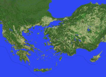 Greece and Anatolia, scale 1:100 (14878x10752 blocks) Minecraft Map & Project