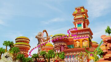 """Minecraftpe build""""The Colorful Fantasy Building"""" Minecraft Map & Project"""