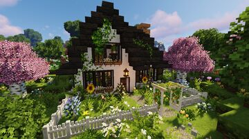 three cottage world Minecraft Map & Project