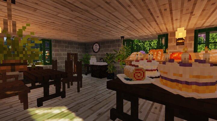 downstairs bakery interior