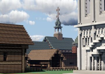 Tserkov' Vsekh Svyatykh - (Church of All Saints) Kremlin, Suzdal, Russia Minecraft Map & Project