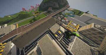 The Triel freight train complex Minecraft Map & Project