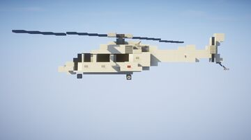 1,5:1 Bell 222 Helicopter Minecraft Map & Project