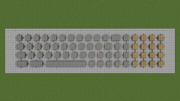 PoweredCube CSCII Keyboard Minecraft Map & Project