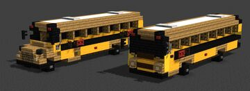 American School Buses Minecraft Map & Project