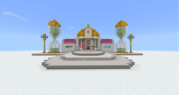 DRAGONBALL Z - HYPERBOLIC TIME CHAMBER & KAMI'S LOOKOUT! Minecraft Map & Project