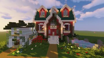 pink palace (1.15.2 house) Minecraft Map & Project