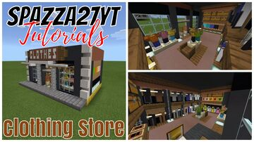 Small Shop #20 Clothing Store Minecraft Map & Project