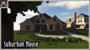 Minecraft cinematic - Stunning American Suburban House Minecraft Map & Project