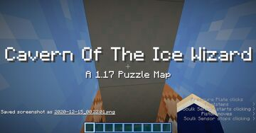 Cavern Of The Ice Wizard. (An Unfinished 1.17 Puzzle map) Minecraft Map & Project