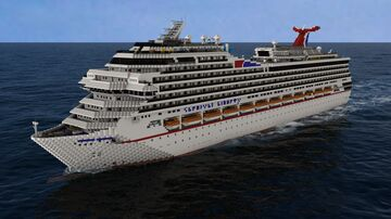 Carnival Liberty (2005) (1:1) (MOST ACCURATE TO DATE) Minecraft Map & Project