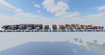 Camions Pompiers français [FR] [French firetrucks] Minecraft Map & Project