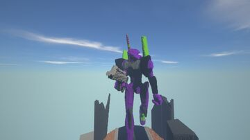 Evangelion Unit 01 Minecraft Map & Project