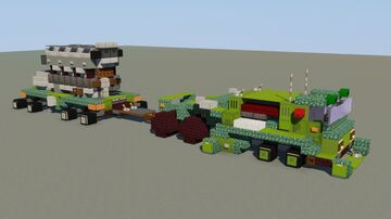 Dieselpunk Heavy Duty Prime Mover Minecraft Map & Project