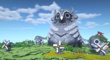 Owl Stone Statue and Windmill Plain Minecraft Map & Project
