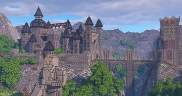 Castle in a Valley Minecraft Map & Project