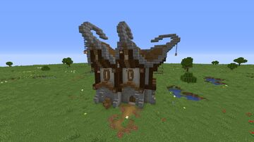 Elven Starter House Minecraft Map & Project