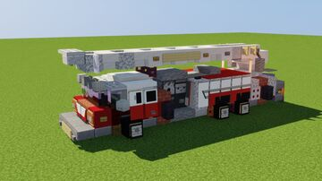Spartan Aerial Ladder Fire Truck Minecraft Map & Project