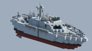 WW2 Patrol Torpedo Boat From Black Lagoon Minecraft Map & Project
