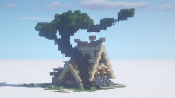 Asian little fantasy starter house Minecraft Map & Project