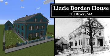 Lizzie Borden Murder House 1892 - Full Interior - VERY Accurate Minecraft Map & Project