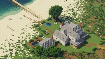 Beach House - Australia 1930 (1:1 scale) Minecraft Map & Project