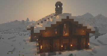 Snowy chalet Minecraft Map & Project