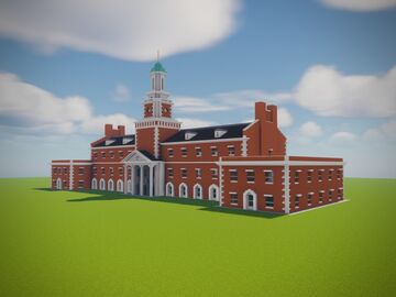 Hurley Administration Building, UNT Minecraft Map & Project
