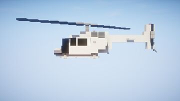 1,5:1 Bell 206 Helicopter Minecraft Map & Project