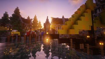 Petit Village médiéval Minecraft Map & Project