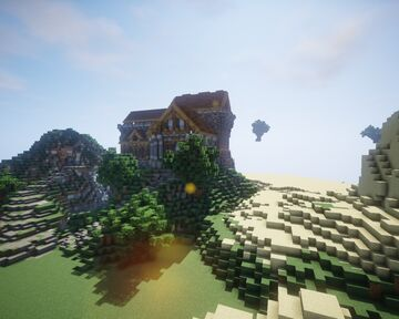 The Mansion on the hill. Minecraft Map & Project