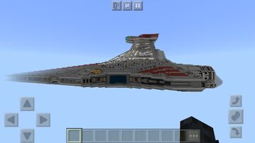 1/1 Scale Venator Class Star Destroyer Minecraft Map & Project