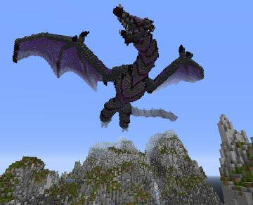 Great Black Dragon Minecraft Map & Project