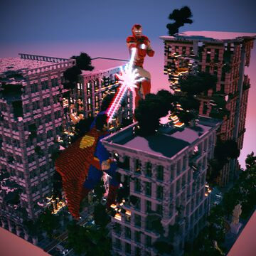 Superhero City Spawn Minecraft Map & Project