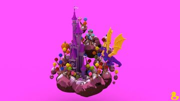 Candy Kingdom Spawn Minecraft Map & Project