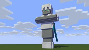 Villager Knight statue Minecraft Map & Project