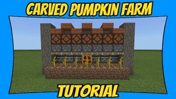 Carved Pumpkin Farm Tutorial [Minecraft Bedrock Edition][MCPE] Minecraft Map & Project