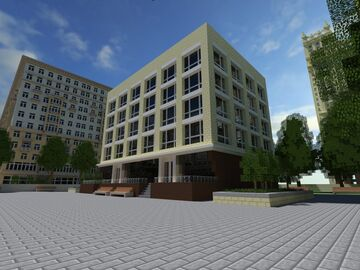 Bratislavsk, capital of the country of soviets Minecraft Map & Project