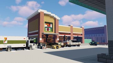 7-Eleven [1.5:1 scale] Minecraft Map & Project