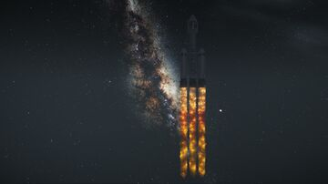 SpaceX Falcon Heavy [SCHEMATIC] Minecraft Map & Project