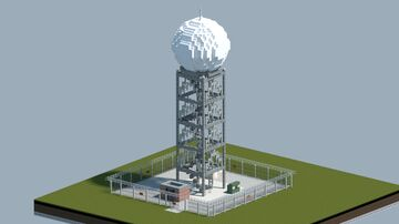 Weather radar tower [With download] Minecraft Map & Project