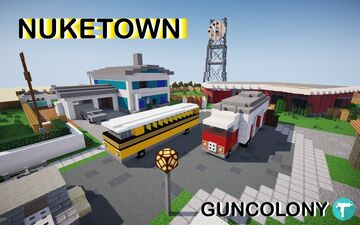Nuketown (Black Ops 1) 2020 Minecraft Map & Project