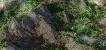 """Mountain and forest map"" 