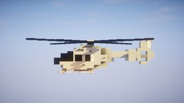 1,5:1 Eurocopter 135 Helicopter Minecraft Map & Project