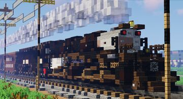 Union Pacific Big Boy 4000 in the 1940s-50s Minecraft Map & Project