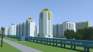 Moscow block of flats - Verkhniye Polya 34 street Minecraft Map & Project