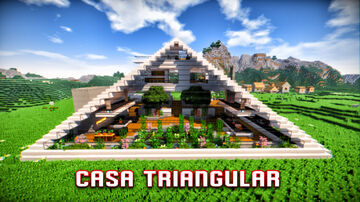 TRIANGULAR HOUSE FOR MINECRAFT SURVIVAL (VIDEO REVIEW) Minecraft Map & Project