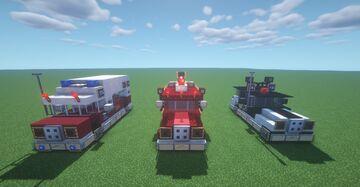 Retro Emergency Vehicles [1.15.2] Minecraft Map & Project